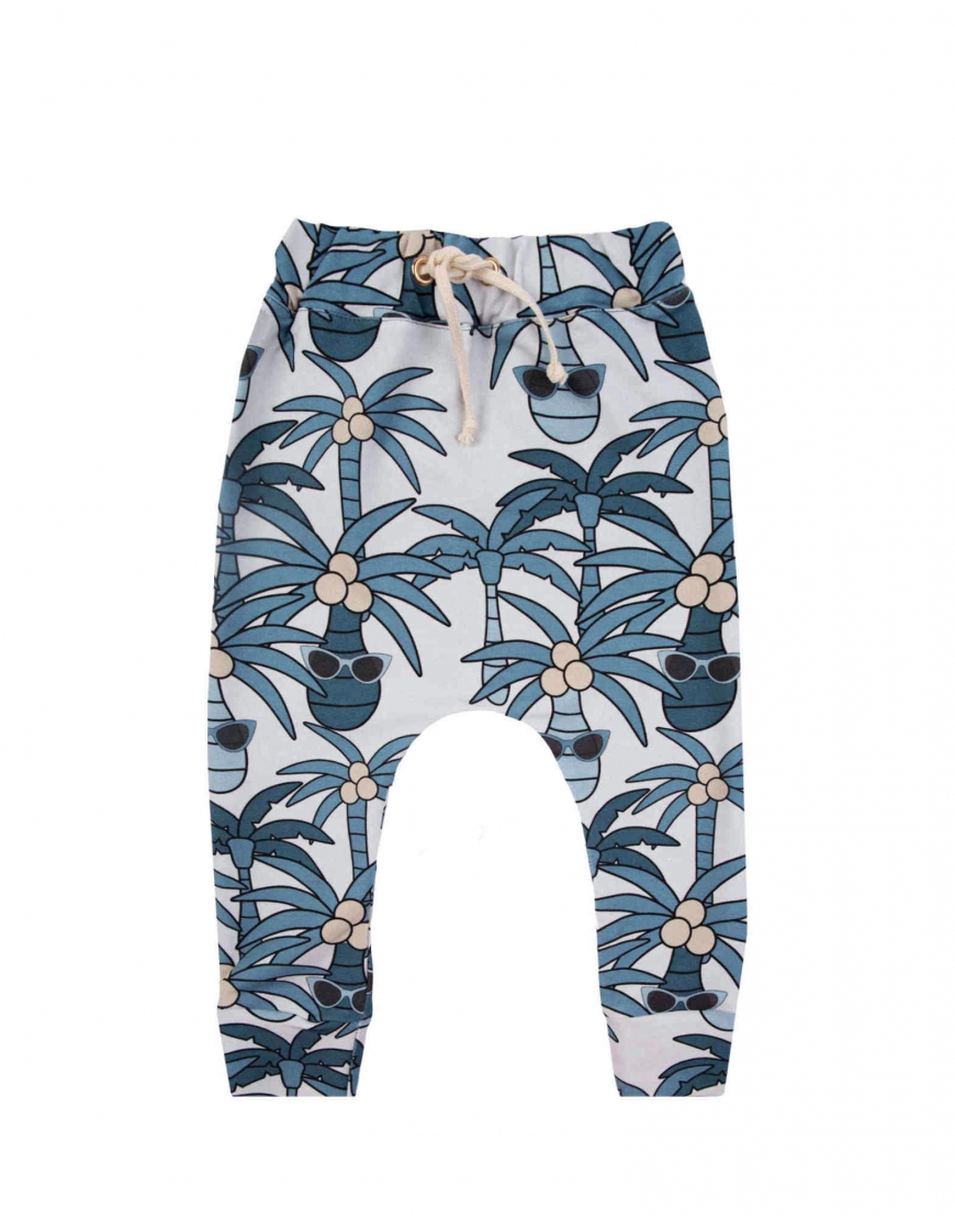 BLUE PALM PANTS