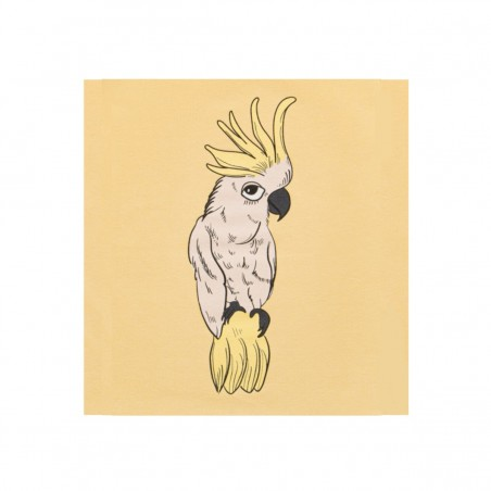 PARROT ECRU PALE YELLOW T-SHIRT