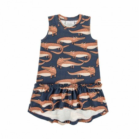 CROCODILE NAVY DRESS
