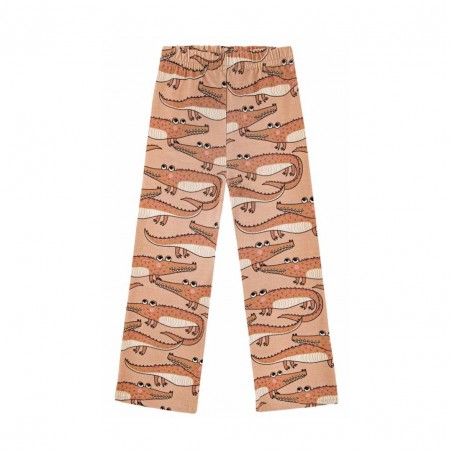 CROCODILE BROWN FLARES