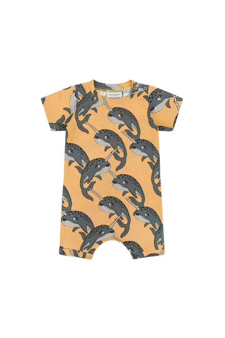 NARWHAL YELLOW ROMPER