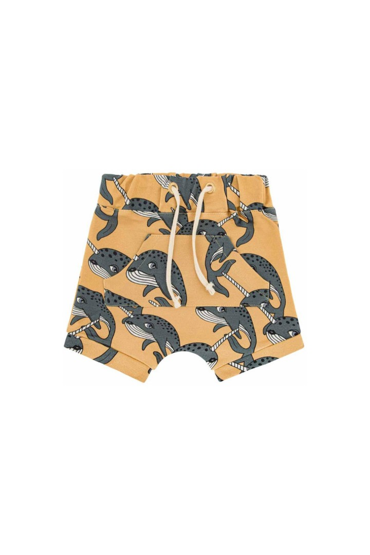 NARWHAL YELLOW SHORTS