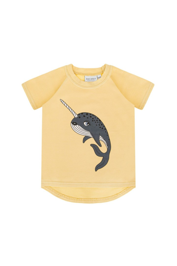 NARWHAL PALE YELLOW T-SHIRT