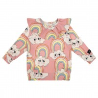 RAINBOW PINK JERSEY FRILLED...
